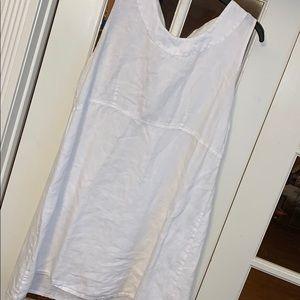 FLAX White 100% Linen Dress